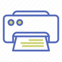 computer, document, office, paper, printer, printing, work icon
