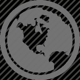 global, planet, web, world icon