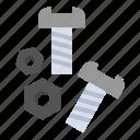 bolt, nut, screw, tools icon