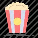 movie, popcorn, snack, theater