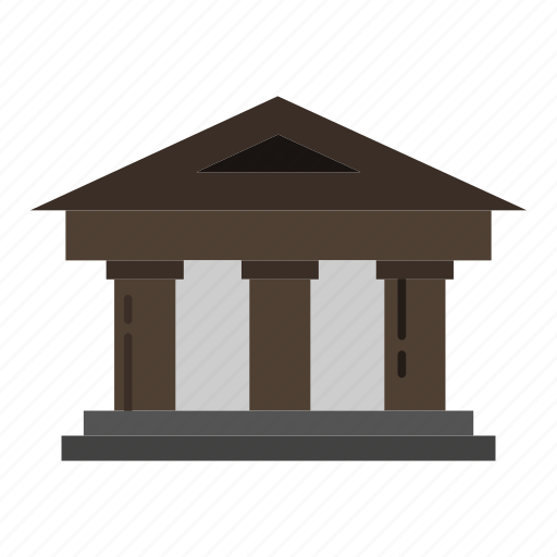 bank, building, courthouse, finance icon