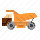 construction, trailer, transport, truck icon