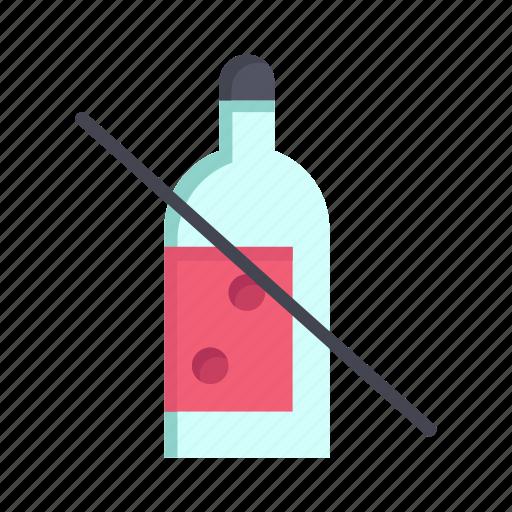 alcohol, bottle, cancer, forbidden, no, whiskey, world icon