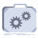 briefcase, case, production, progress, work