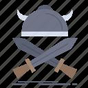 battle, emblem, swords, viking, warrior
