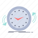 backup, clock, clockwise, counter, time