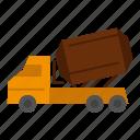cement, construction, roller, truck, vehicle