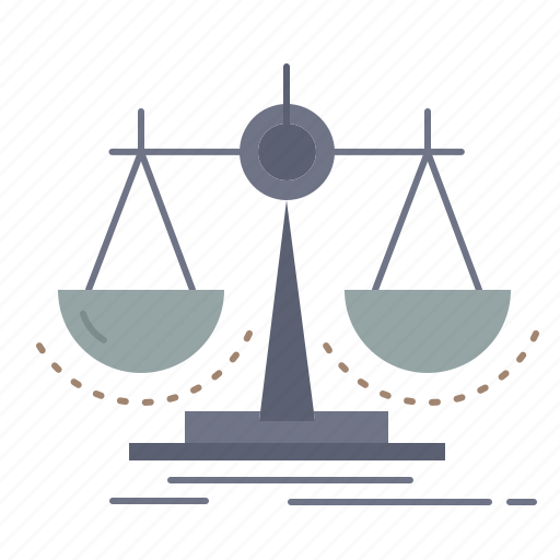 balance, decision, justice, law, scale icon