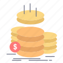 coins, finance, gold, income, savings