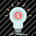 finance, financial, idea, money, startup icon