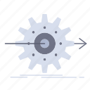 gear, performance, progress, setting, work icon