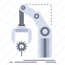 automation, factory, hand, mechanism, package icon