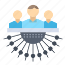 allocation, group, human, management, outsource icon