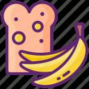 banana, bread, food, fruit