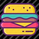 burger, cheeseburger, food