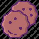 chocolate, chip, cookie, food