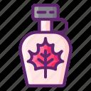 maple, syrup, leaf, food, sweet