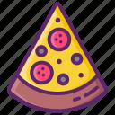 pizza, slice, food
