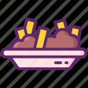 poutine, food, fries