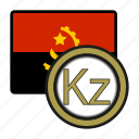 angola, coin, exchange, kwanza, money, payment icon