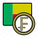 coin, exchange, franc, benin, money, payment icon