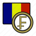 chad, coin, exchange, franc, money, payment icon