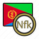 coin, exchange, eritrea, nakfa, money, payment icon
