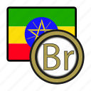 coin, exchange, ethiopia, birr, money, payment icon