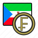 coin, guinea, exchange, franc, money, payment icon