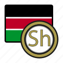 coin, exchange, shilling, kenya, money, payment icon