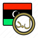 coin, libya, exchange, dinar, money, payment icon