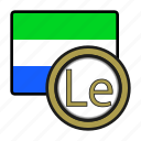 coin, exchange, leone, money, payment, sierra leone icon