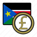 pound, coin, sudan, exchange, money, payment icon