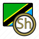coin, exchange, shilling, tanzania, money, payment icon