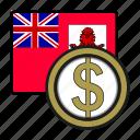 bermuda, coin, dollar, exchange, money, payment