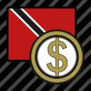 coin, dollar, exchange, money, trinidad, payment