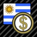 coin, exchange, money, peso, uruguay, payment