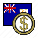 anguilla, coin, dollar, exchange, money, payment