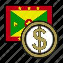 coin, dollar, exchange, grenada, money, payment