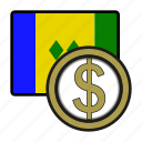 coin, dollar, exchange, money, vicente, payment