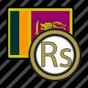 lanka, exchange, rupee, money, coin, payment icon