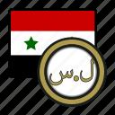 exchange, pound, money, coin, syria, payment icon