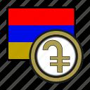 exchange, money, armenia, coin, dram, payment icon