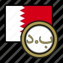 dinar, exchange, coin, bahrain, money, payment icon