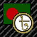 exchange, taka, coin, bangladesh, money, payment icon