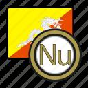 exchange, bhutan, money, coin, ngultrum, payment icon