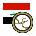 coin, money, exchange, iraq, dinar, payment icon