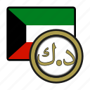 dinar, exchange, kuwait, money, coin, payment