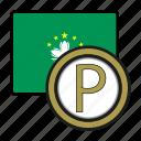pataca, coin, money, macau, exchange, payment icon
