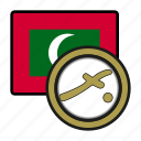 maldives, exchange, rufiyaa, coin, money, payment icon
